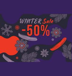 Winter sale banner vector