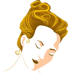 womans head vector image