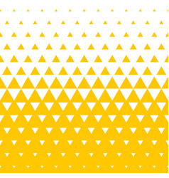 yellow white triangle halftone pattern background vector image