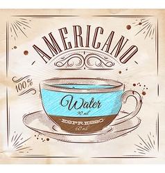 Coffee kraft Americano vector image