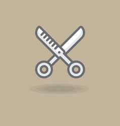 icon spinneress scissors of vector image vector image