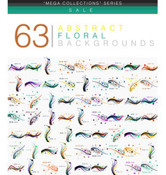 mega collection of 63 spring floral vector image