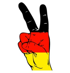 Peace Sign of the Germany flag vector image vector image