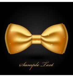 shiny gold bow vector image
