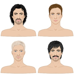 4 men vector image vector image