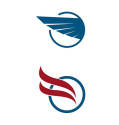 aviation company emblem logo design vector image