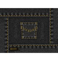 Denim frame with pocket vector image