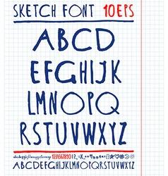 handwritten English alphabet vector image vector image