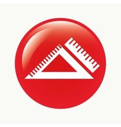ruler button vector image