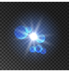 Spot light with lens flare effect Lamp flash vector image vector image