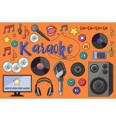 Theme of karaoke vector image vector image