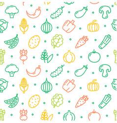 Vegetables food shop pattern background vector