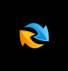 arrow circle color sign logo vector image