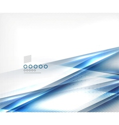 Blue blur motion lines business template vector image vector image