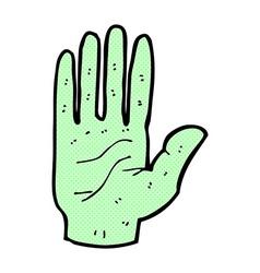 comic cartoon zombie hand vector image vector image
