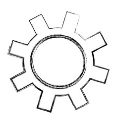 Isolated gear tool vector