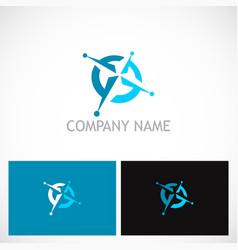 north star navigation technology logo vector image vector image