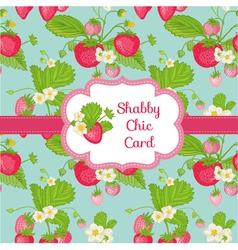 Strawberry shabby chic theme vector
