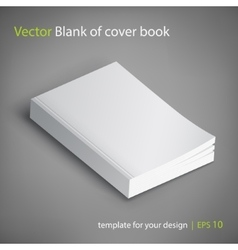 Blank of book cover Template vector image