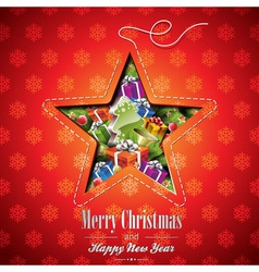 Christmas with abstract star design vector image