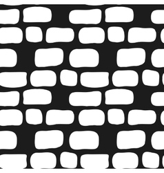 hand drawn simple brick wall seamless vector image