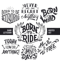 Hand lettering quotes set vector image vector image