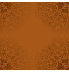 Vintage template Oriental circle background vector image vector image