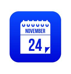 24 november calendar icon digital blue vector image