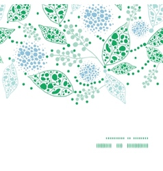 Abstract blue and green leaves horizontal frame vector