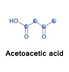 Acetoacetic acid structure vector image