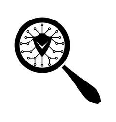 antivirus program search icon vector image