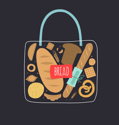 Bag bread vector