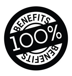 benefits rubber stamp vector image