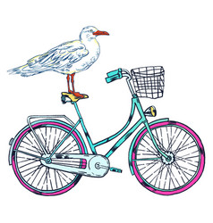 Bike gull super summer vector