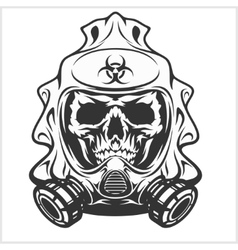 Biohazard - skull mask virus infection vector image
