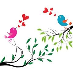 Bird with love a birds wedding vector