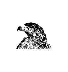 Black 8-bit young golden eagle vector