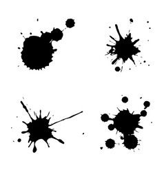 black ink spots vector image