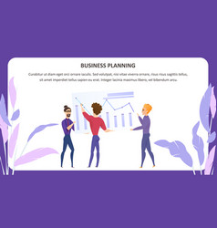 business planning grath character banner vector image