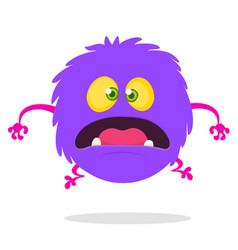 Cartoon happy surprised monster vector