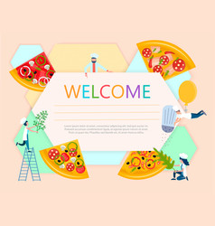 Certificate cooking courses pizza making vector
