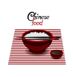 Chinese food rice color flat icon vector