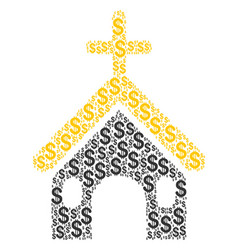 christian church collage of dollar vector image