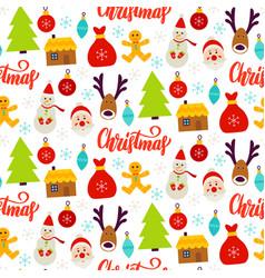 christmas celebration seamless pattern vector image
