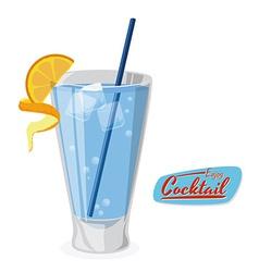 cocktail design vector image