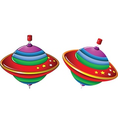 Color whirling toy vector