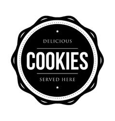 Cookies vintage stamp vector image