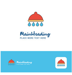 creative shower logo design flat color logo place vector image