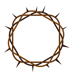 Crown of thorns icon isolated vector