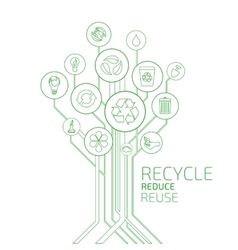 Ecology Infographic Recycle Reduce Reuse vector